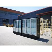 China Air Cooling Upright Glass Door Freezer 360L -1260L Display Volume With Auto Defrost System on sale