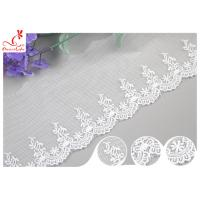 Quality Sri Lanka Embroidery Floral Nylon Lace Trim With Cotton Material Customized wholesale