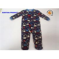 Quality 100% Cotton Crane AOP Baby Coverall Long Sleeve Crew Neck Over Tab Pram Suit wholesale