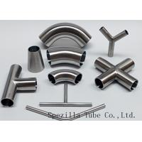 "Quality Equipment Usage Sanitary Valves And Fittings Stainless Steel Tee Welded End 1""x1""x1"" wholesale"