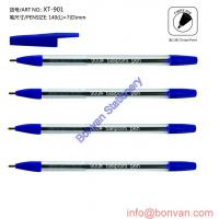 disposable cheap office ball pen,in colored box, & PVC tube packing of ...