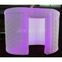 Quality white oval type lighting inflatable tent for photo booth with 1 door enclosure and led lights made in China wholesale
