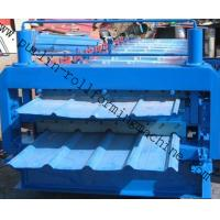 Quality Steel Cold Double Layer Roll Forming Machine for Roof Tile , Metal Sheet , Wall Panel wholesale