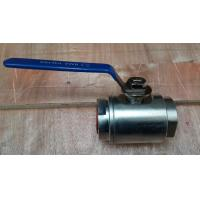 Quality A105 forged steel 2PCS body NPT ends floating ball valve HDG 800LBS wholesale