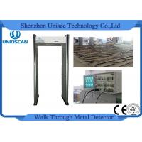 Quality 6 Zones Led Screen Walk Through Metal Detector With High Density Wood Door Panel wholesale