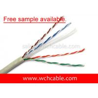 China UL Lan Cable Cat6 UTP 24AWG 4Pairs OD5.8mm Free Sample Available on sale