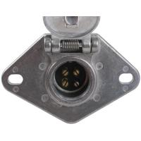 Quality Metal Trailer Electrical Socket , 4 Pin Trailer Connector With Lid wholesale