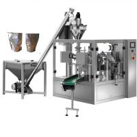 Quality Automatic powder dispensing machine milk pouch packing machine,Paper bag Powder filler premade pouch filling sealing mac wholesale