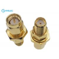China Male To Female Bulkhead Waterproof Sma To Rp Sma Adapter Straight Gold Plated on sale