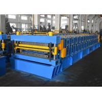 Quality Color Steel / Galvanized Steel Roofing Sheet Roll Forming Machine With Double Layer Design wholesale
