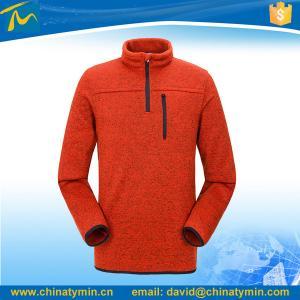 Quality 1/4 zipper customized soft overall polar fleece jacket wholesale