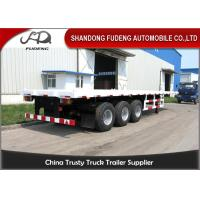 Buy cheap 3 Axles 40/45 Feet Flatbed Container Trailer With 12 Units THT Lock For Sale from wholesalers