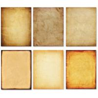 China Double Sided Printed Brown Parchment Paper With Classic Vintage Assorted Design on sale