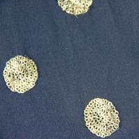 Quality Chiffon Dyed Spangle Embroidery Fabric, Made of 100% Polyester wholesale