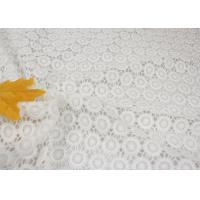 Quality White Chemical Water Soluble Guipure Lace Fabric By The Yard For Party Sexy Dress wholesale