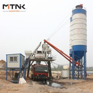 China Simple Line HZS60 Bucket Hoist Concrete Ready Mix Plant on sale