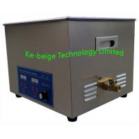 Quality Glass / Jewelry Benchtop Ultrasonic Cleaner For Tattoo Equipment , 19L 420W wholesale