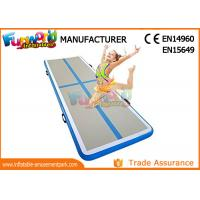 Customized Inflatable Air Mat Gymnastics With Free Pump / Silking Printing
