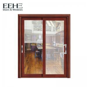 China Horizontal 3 Panel Aluminium Sliding Door / Single Rail Aluminium Exterior Doors on sale