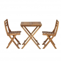 Quality ISO 9001 Garden Outdoor Wood Bistro Table And Chairs Set wholesale