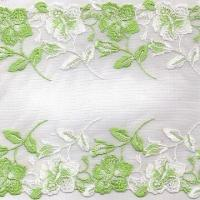 China Embroidered Lace with 18.2cm Width, OEM Orders Welcomed on sale