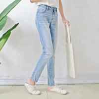 China Fashion Ladies Ripped Skinny Jeans , Light Blue Stretch Jeans For Women on sale