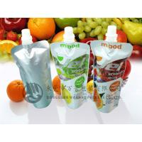 Quality FDA Approval Eco Stand up Beverage Liquid Packaging Spout Pouch Bag / Reclosable cap wholesale