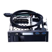 China Unestech 2.5+3.5 dual bay optical drive sata caddy tray hdd enclosure hot swap 6Gbp for 2.5in hard disk SSD and 3.5in br on sale