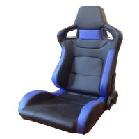 Quality Multi Material Blue And Black Racing Seats , Leather Racing Seats 95*67*57cm wholesale
