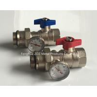 China Heating manifold ball valve with thermometer on sale