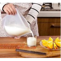 Quality Reusable Food grade Silicone Vacuum Food Fresh Bags Wraps Fridge Containers Refrigerator Bag silicone food storage bag wholesale
