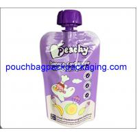 Quality Juice packing bag with spout, stand up spout pouches plastic for food packaging wholesale