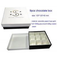 Quality new design 9pcs chocolate  packaging box wholesale