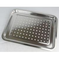 Cheap Customized Size Pizza Baking Tray With Holes For Keep Dry / Containing Food for sale