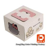 Quality Square 10 Cardboard Folding Cake Boxes Custom Printed For Packaging Cake wholesale