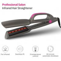 China Pro Salon Quality Flat Iron With Infrared Therapy Straight Iron Extra-Wide Heating Plates Hair Straightener For Easy Sty on sale
