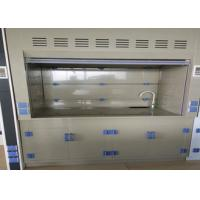 Quality Customized Laboratory PP Fume Hood Anti Corrosion PP Blower Grey White Appearance wholesale