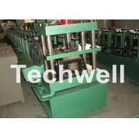 Quality GCr15 Steel Cable Tray Roll Forming Machine For Storage Rack , Rack Beam 12-15m/min wholesale