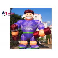 Quality Anytime Fitness Blow Up Cartoon Characters Superman Model With Digital Print wholesale