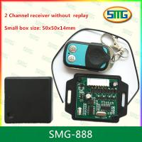 Quality SMG-888 2 channel remote control and receiver small size without replay 50x50x14mm wholesale