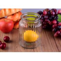 Quality Empty Bright Clear Glass Jars / Decorative Wide Mouth Glass Jars Large Capacity wholesale