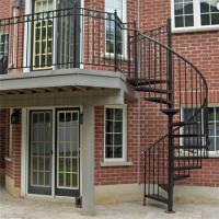 Quality Wrought iron black spiral staircase price wholesale
