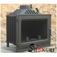 Buy cheap 12kw insert wood burner cast iron fireplace from wholesalers