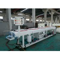 Quality PE PERT Plastic Pipe Extrusion Line With Saw Blade Cutting Pneumatic Controlled wholesale