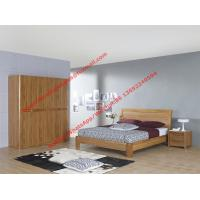 Quality Bentwood headboard screen Concise design bed by Row skeleton bedstead with spring mattress and wardrobe wholesale