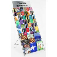 Quality 10-Tiered Wire Magazine Display Racks With Exhibition Hall wholesale