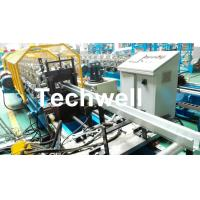 Quality Metal Sheet Hat Channel Roll Forming Machine / Furring Channel Profile With 0-15m/min Forming Speed wholesale