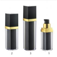 Quality Blcak 15ml 30ml 50ml Plastic Luxury Airless Bottle with Lotion Pump wholesale