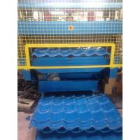 Quality 5 Ton Manual Uncoiler Roof Panel Roll Forming Machine PLC Control System wholesale