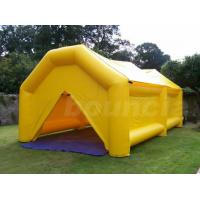 Quality 0.9mm PVC  Yellow Color PVC Tarpaulin Inflatable Camping Tent wholesale